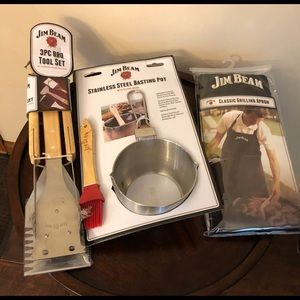 3 Piece Jim Beam Grilling Set New